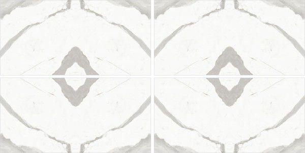 - 600 x 1200 mm (24 x 48 pouces) - Statuario Taj  A-B