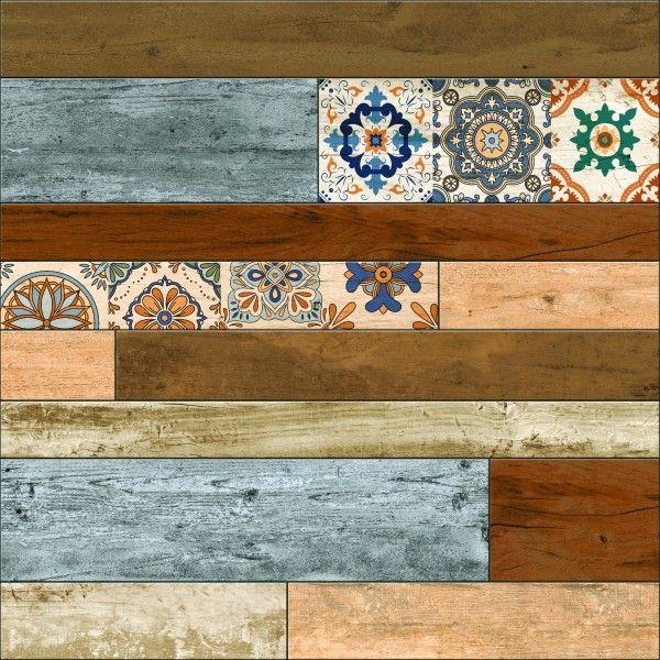 Ceramic Floor Tiles - 600 x 600 mm ( 24 x 24 inch ) - DECORA STRIP 2