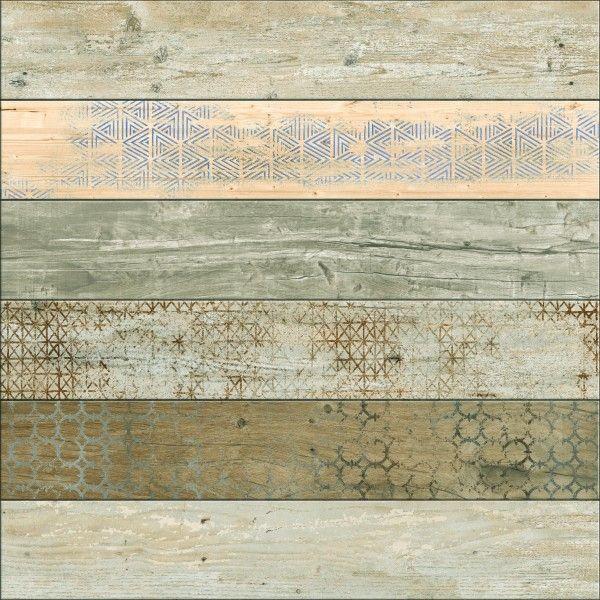 Ceramic Floor Tiles - 600 x 600 mm ( 24 x 24 inch ) - DECORA STRIP 6