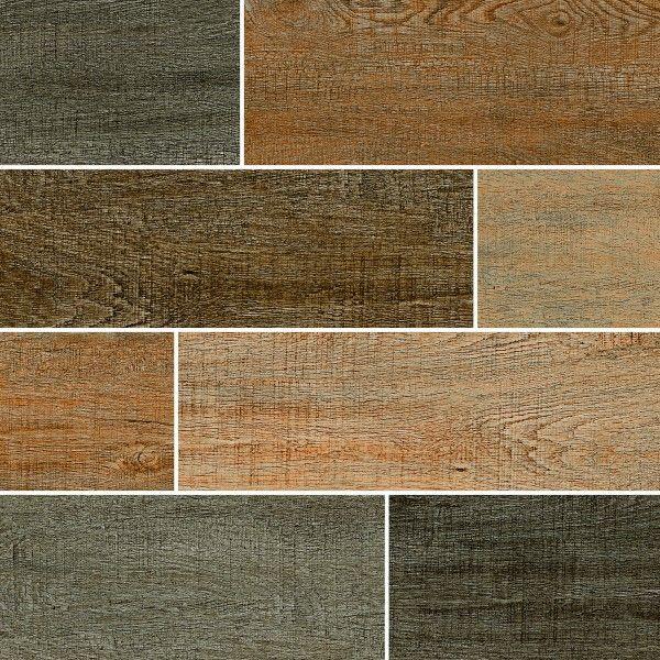 Ceramic Floor Tiles - 600 x 600 mm ( 24 x 24 inch ) - TAZARA WOOD STRIP