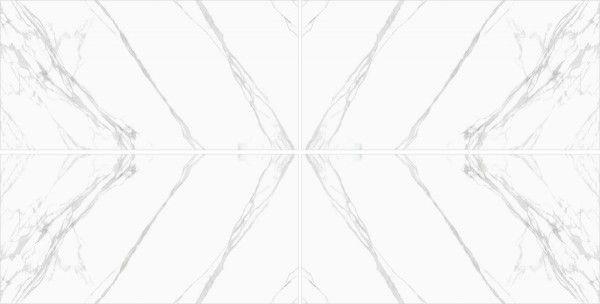 Porcelain Slab - 800 x 1600 mm ( 32 x 64 inch ) - Statuario Classic  AB